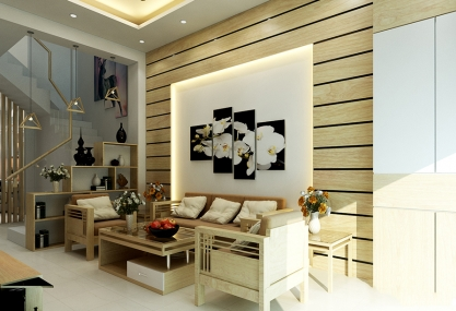 Modern 3-storey house interior design Ms. Thoa - Hanoi