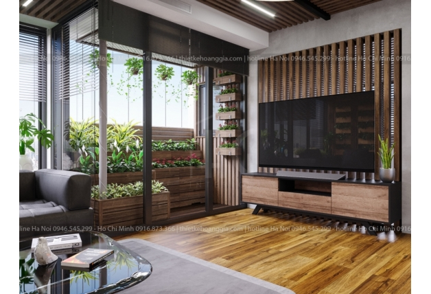 Linh Dam에서GreenLife아파트의 인테리어를 디자인