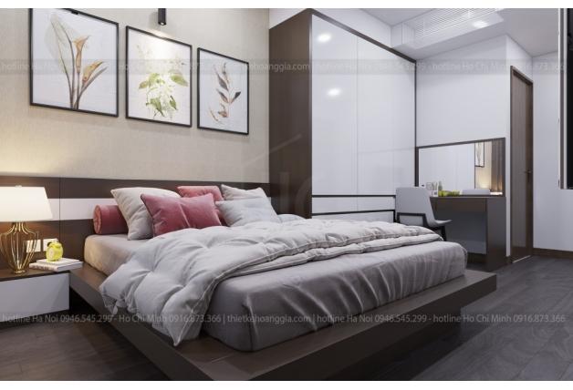Golden Star Hung Loc Phat아파트에서 Hoa씨의 댁의 인테리어를 디자인