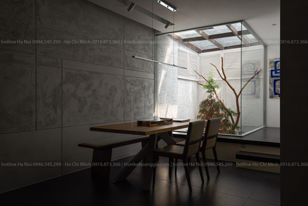 Interior construction of Mr. Khang Dan Phuong townhouse in Hanoi