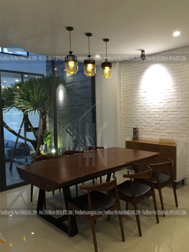 Interior construction of Khanh's house in Ninh Binh