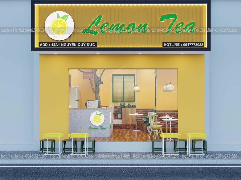 Designing lemon tea shop, Milk tea Lemon Tea